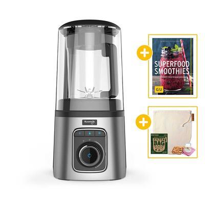 Kuvings SV-500 Vakuum-Standmixer silber + Buch Superfood Smoothies + Nectarbar Nussmilchbeutel | EUJUICERS.DE