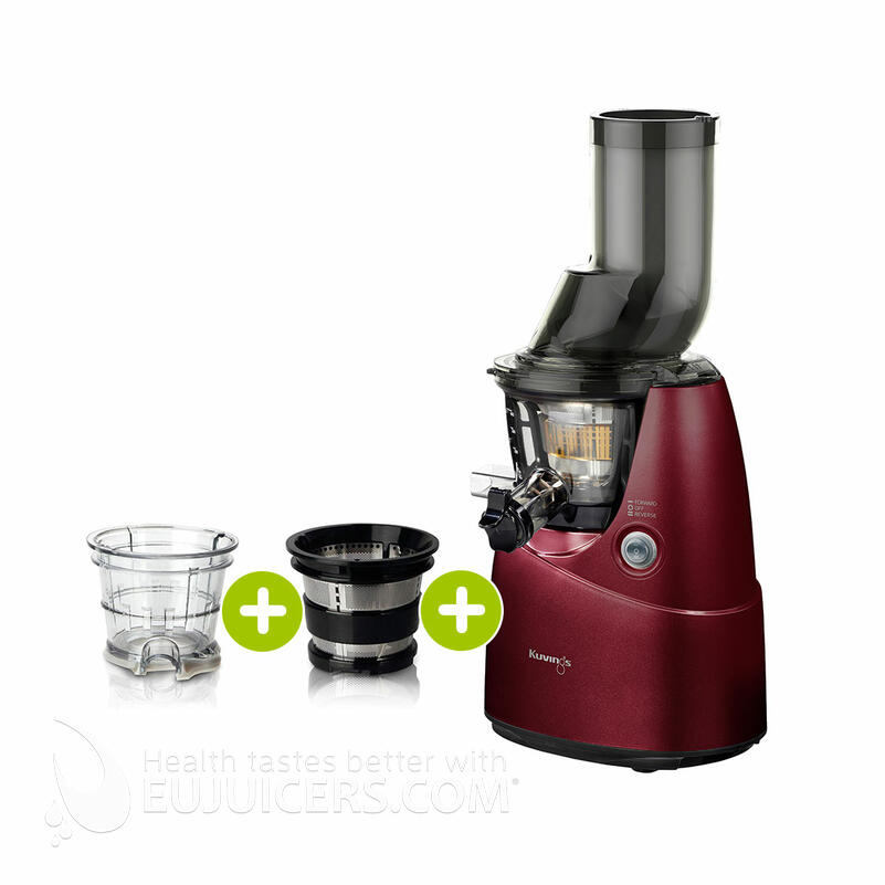 Kuvings B6000 Entsafter rot plus Smoothie- & Eiscreme-Set | EUJUICERS.DE