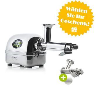 Angel Juicer 7500 + Pürier-Sieb + Werbegeschenk Auswahl | EUJUICERS.DE