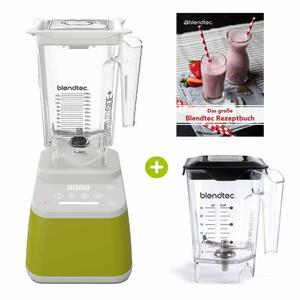 Blendtec Designer 625 Avokado inkl. Wildside+ Jar plus Wildside Mini Jar plus Rezeptbuch | EUJUICERS.DE