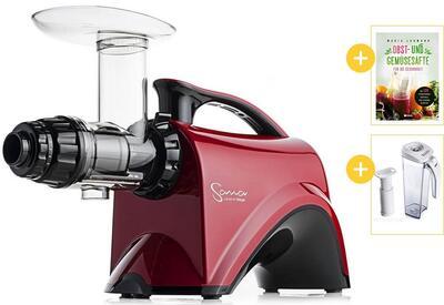 Sana Juicer by Omega EUJ-606 rot mit Werbegeschenken | EUJUICERS.DE
