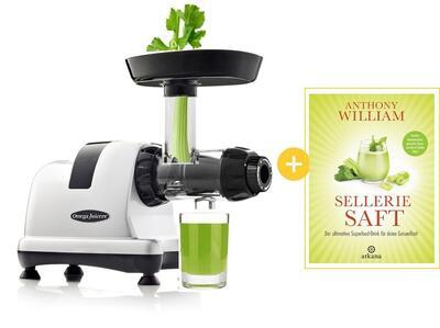 Omega Juicer 8227 mit Sellerie Saft Buch Anthony William | EUJUICERS.DE