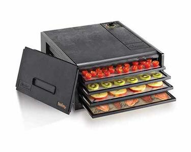 Excalibur Mini Doerrautomat mit Kiwis und Tomaten doerren | EUJUICERS.DE